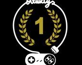Always number 1 Gamer T-shirt // Gold color