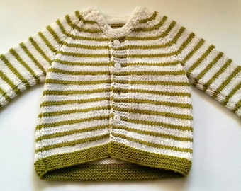 Knit baby sweater - 6 to 12 months - Knit jumper - Baby boys clothing - Pistachio Green sweater - Unisex