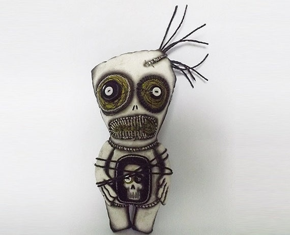 Voodoo Doll Monster Doll Horror Art Scary Doll Day of the Dead Doll