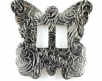 CONCHOS 1 1/2 inch BUTTERFLY NICKEL Finish 25 pcs