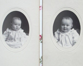 2 Studio Photographs - Baby Lois Linhart, Different Poses