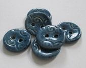 Aquamarine Ceramic Buttons