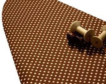 Ironing Board Cover standard and custom sizes including Brabantia Select the Size Riley Blake Farm Fresh brown with cream polka dots