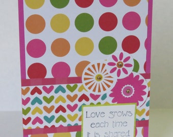 Love Grows Christian I Love You Card With Scripture