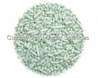 Mint Green Jimmies Edible Sprinkles Cookie Cakepop Cupcake Candy Confetti Decorations 2oz.
