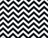 CLEARANCE SALE Premier Prints black and white zigzag chevron home deco fabric 1 yard