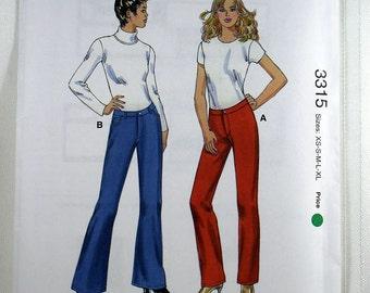Kwik Sew 3315, Misses' Stretch Jeans Sewing Pattern, Jeans Pattern, Misses' Patterns, Sewing Pattern, Misses' Sizes XS, S, M, L, XL, Uncut