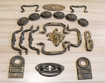 bulk - antique and vintage furniture supplies - brass hardware (R4)