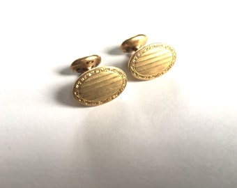 Classy Gold Plated Cuff Links