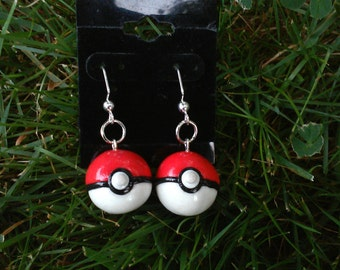 Pokemon GO Inspired Pokeball Earrings