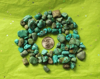 Lot of 80 Raw Turquoise Beads