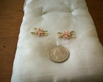 Pretty french antique Ribbon work flower