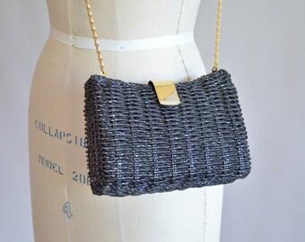 Vintage 1990s Black box purse