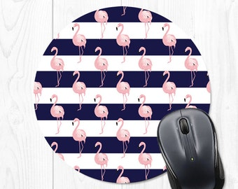 Mouse Pad Flamingo Mouse Mat Striped Mousepad Cubicle Decor Office Desk Accessories Office Decor Cute Mouse Pad Navy Blue Mousepad