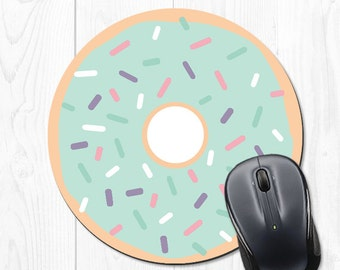 Doughnut Mouse Pad Coworker Gift for Coworker Gifts for Employees Employee Gift Office Supplies Cute Mint Office Desk Accessories