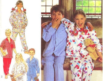 Style Kids Pattern 2391 -  Girls' or Boys Pajamas in Four Variations  - Kids Sizes 7 to 12