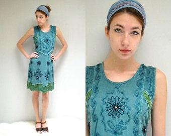 Embroidered Indian Dress  //  Boho SunDress  //  SUMMER RAIN