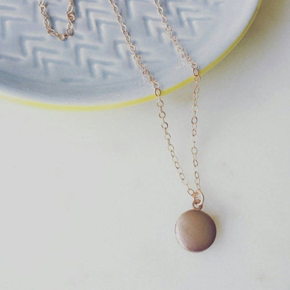 Tiny Rose Gold Filled Locket