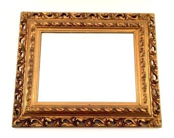 Ornate Gold Mirror / Italian Burlesque Hollywood Regency Florentine style Mirror