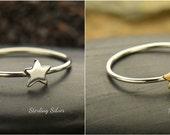 Star Rings - CR510, Stackable Rings, Celestial, Friendship Rings