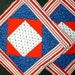 POTHOLDERS #35 Square in Square Traditional Quilt Design, Red White Blue, Scrappy, GA Mountain Made, Patriotic, Amerocana, Ranch Loft