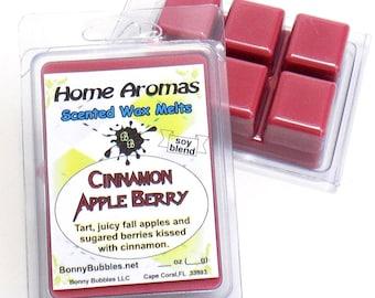 CINNAMON APPLE BERRY Wax Melt - 6 breakaway cubes - soy blend - clamshell type