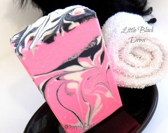 LITTLE BLACK DRESS soap with aloe vera, cream and silk - cold process by Bonny Bubbles