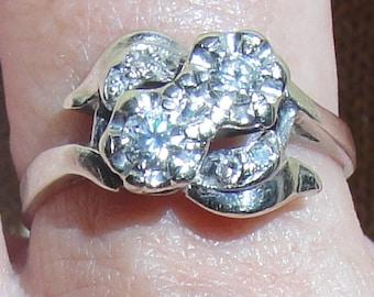 Reduced 25% Diamond Ring Beautiful Vintage in Original Box