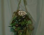 Custom Order For Sheila Irish Moors Purse Silks and Velvets with My Artwork