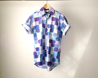 point break SURF print 80s 90s HAWAIIAN short sleeve shirt