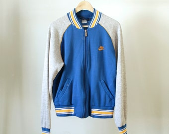 NIKE cotton 90s color BLOCK blue and grey TRACK jacket windbreaker