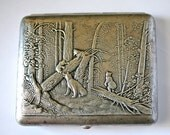Cigarette Case Business Card Holder Bears Morning in a Pine Forest Shishkin 1950s from Soviet Union USSR