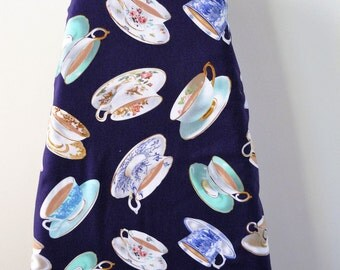 Ironing Board Cover - fine china tea cups and saucers