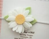 Daisy Headband, Daisy Baby Headband, Baby Flower Headband, Felt Flower Headband, Newborn Headband, Baby Headband, Toddler Headband