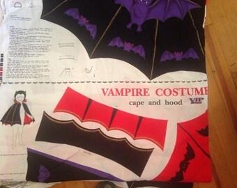 Vampire Halloween Costume Cut and Sew Pattern Kids Children
