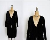 33% OFF 1920s dress - 20s velvet dress - black velvet - flapper dress - gatsby