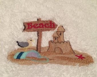 Summertime Beach Hand Towel