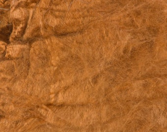 Silk Hankies, Cinnamon, Mawata, Mulberry, Bombyx for felting and spinning
