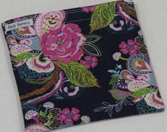 Reusable Sandwich Bag Reusable Snack Bag Petal and Plume Floral Eco Friendly Bag