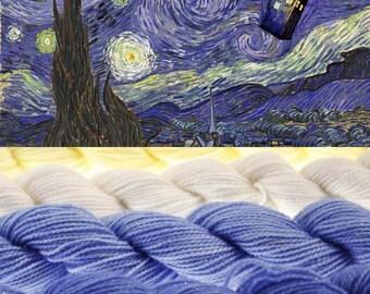 Dr. Who Mini Skein Set DK or Fingering Choose Your Yarn Base -  Starry Night