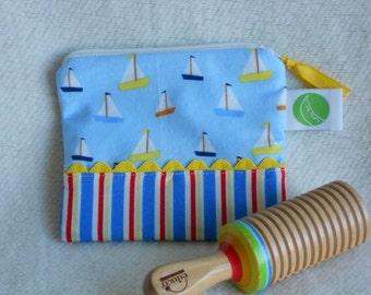 "Reusable Snack Sack, Mini Size - 5"" x 4.5""- Nylon lined, Machine Washable, Zippered, EcoFriendly"