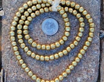 African Brass Globe Beads 7x7mm