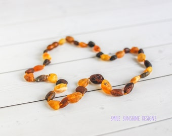 Adult Amber Necklace - 18 inches - Baltic Amber Beads - Healing Amber - Mommy Necklace - Genuine Amber Necklace - Natural Baltic Amber