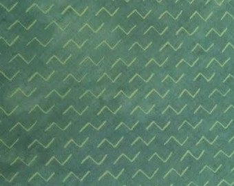 Rainforest by Janine Burke for Riverwoods Fabrics - Full or Half Yard Modern Green Zig Zag Lines - Modern Geometric- 1874-1