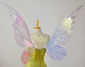 Extra Large Trinket Fairy Wings in Iridescent Clear with Pearl Veins Ready to Ship