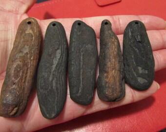 Driftwood Flat Pendants (5)