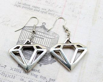 Geometric Diamond Earrings