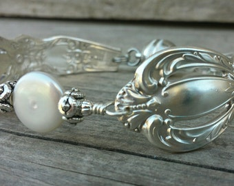 Stunning Spoon Bracelet From 1968 With Freshwater Pearl
