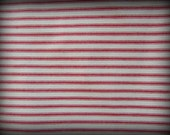 Ticking Fabric, Red and White Tick, Half Yard, Red Stripe Fabric, Railroad Fabric, Ticking Material, Cotton Ticking, Woven Ticking, Cotton