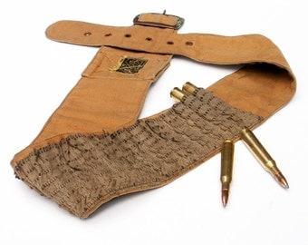 Canvas Cartridge Belt Ammo Bandolier